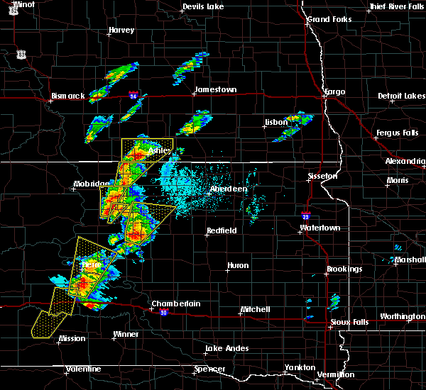 Radar Image for Severe Thunderstorms near Ashley, ND at 6/7/2020 6:22 PM CDT