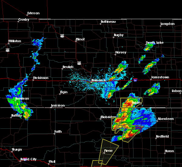 Radar Image for Severe Thunderstorms near Pettibone, ND at 6/7/2020 6:31 PM CDT