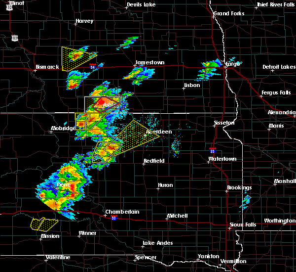 Radar Image for Severe Thunderstorms near Westport, SD at 6/7/2020 6:49 PM CDT