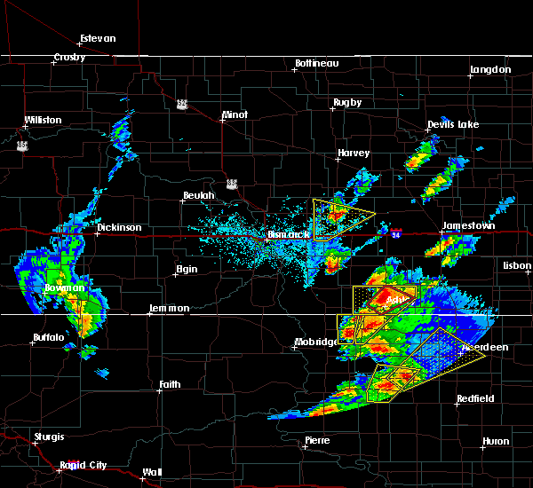 Radar Image for Severe Thunderstorms near Pettibone, ND at 6/7/2020 6:52 PM CDT