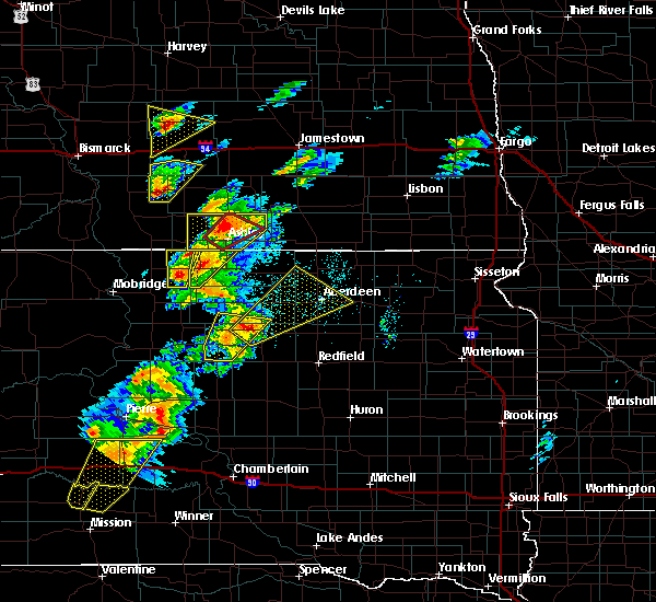 Radar Image for Severe Thunderstorms near Westport, SD at 6/7/2020 6:53 PM CDT
