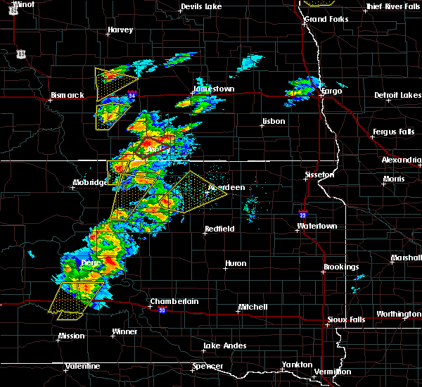 Radar Image for Severe Thunderstorms near Westport, SD at 6/7/2020 7:03 PM CDT