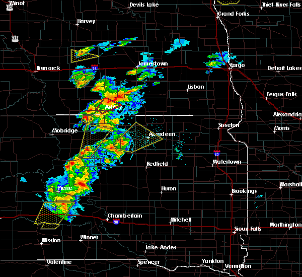Radar Image for Severe Thunderstorms near Westport, SD at 6/7/2020 7:09 PM CDT