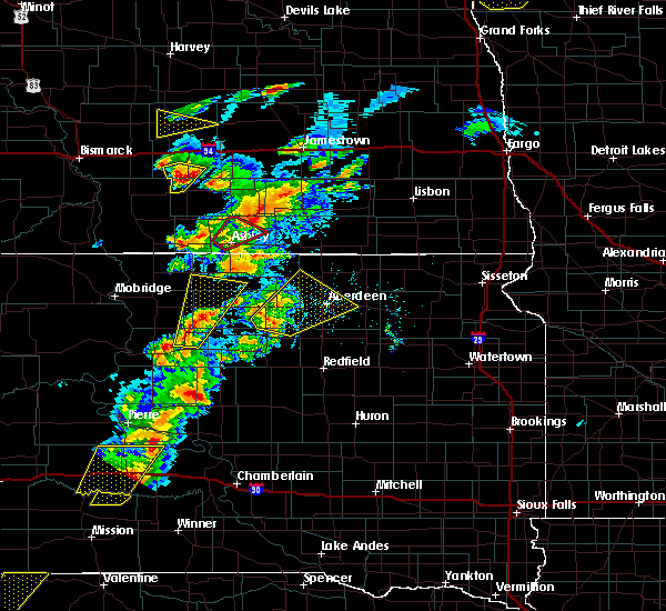 Radar Image for Severe Thunderstorms near Edgeley, ND at 6/7/2020 7:16 PM CDT