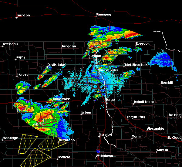 Radar Image for Severe Thunderstorms near Fort Totten, ND at 6/7/2020 7:22 PM CDT
