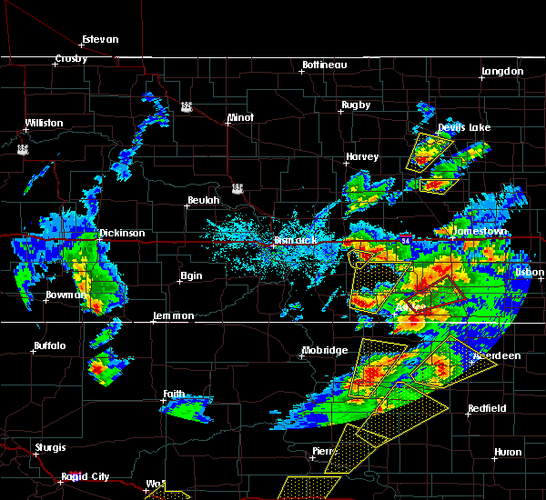 Radar Image for Severe Thunderstorms near Wishek, ND at 6/7/2020 7:27 PM CDT