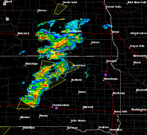 Radar Image for Severe Thunderstorms near Rockham, SD at 6/7/2020 7:28 PM CDT