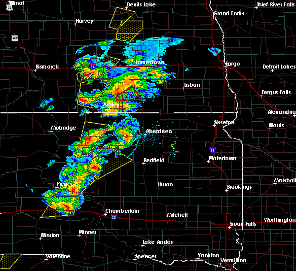 Radar Image for Severe Thunderstorms near Edgeley, ND at 6/7/2020 7:33 PM CDT