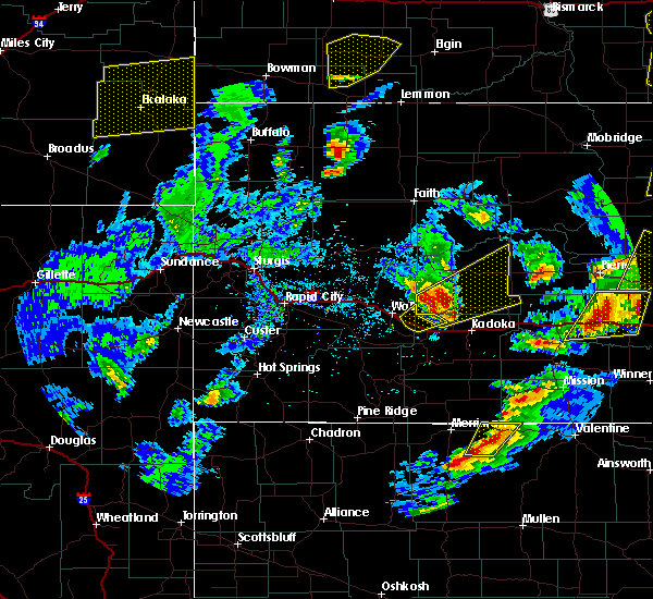 Radar Image for Severe Thunderstorms near Cottonwood, SD at 6/7/2020 6:40 PM MDT