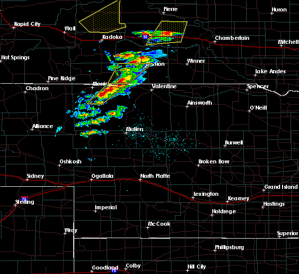 Radar Image for Severe Thunderstorms near Mission, SD at 6/7/2020 7:56 PM CDT