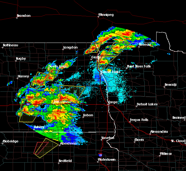 Radar Image for Severe Thunderstorms near Leal, ND at 6/7/2020 8:05 PM CDT