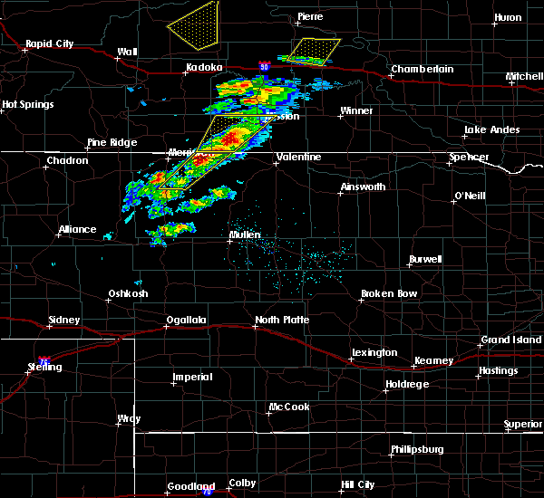 Radar Image for Severe Thunderstorms near Mission, SD at 6/7/2020 8:09 PM CDT