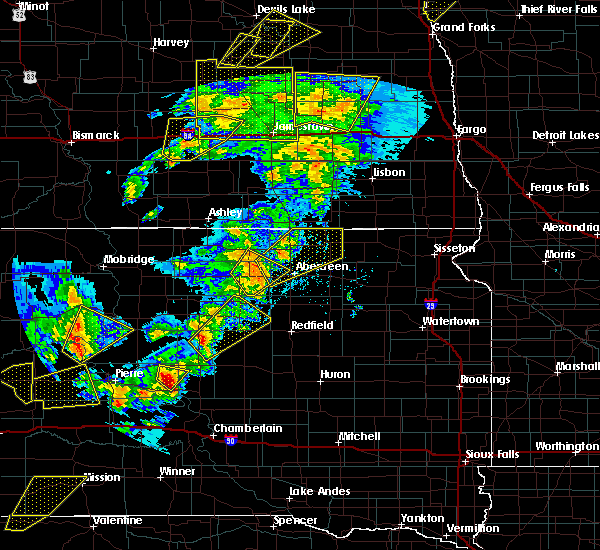Radar Image for Severe Thunderstorms near Hecla, SD at 6/7/2020 8:24 PM CDT