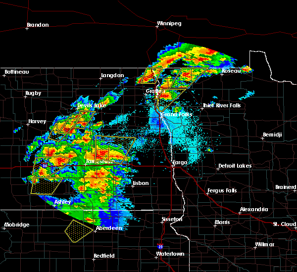 Radar Image for Severe Thunderstorms near Sutton, ND at 6/7/2020 8:27 PM CDT