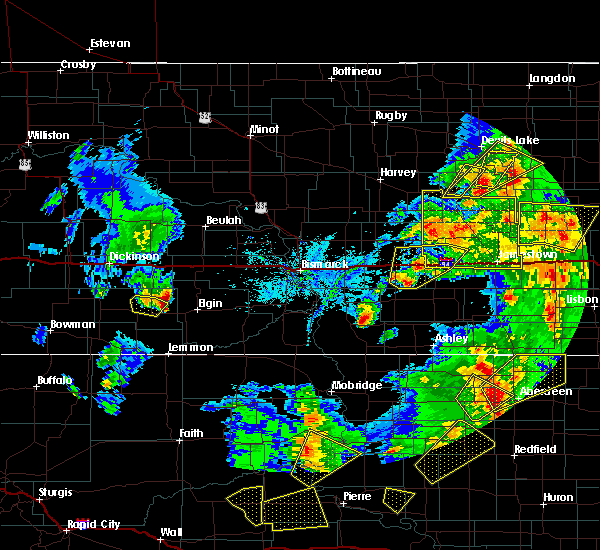 Radar Image for Severe Thunderstorms near Hebron, ND at 6/7/2020 7:29 PM MDT