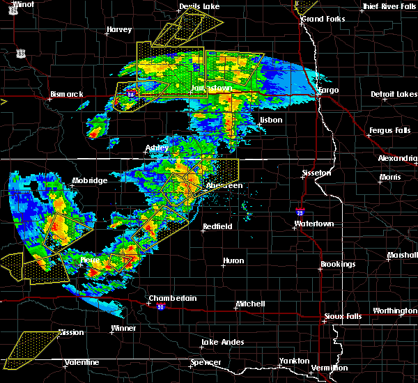 Radar Image for Severe Thunderstorms near Hecla, SD at 6/7/2020 8:31 PM CDT