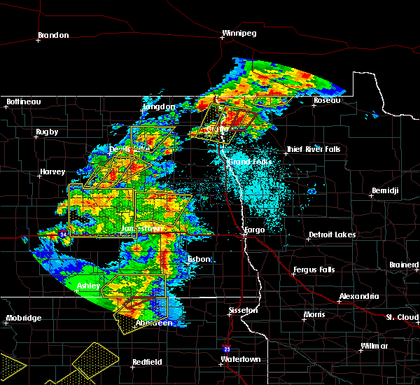Radar Image for Severe Thunderstorms near McVille, ND at 6/7/2020 8:41 PM CDT