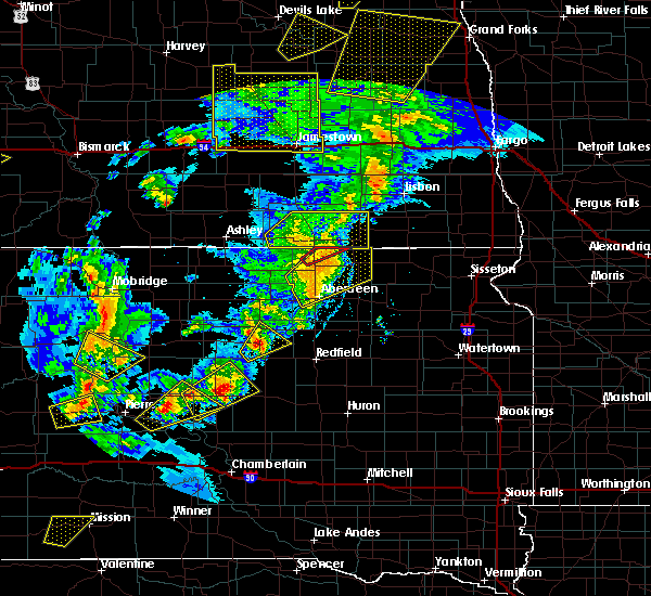 Radar Image for Severe Thunderstorms near Hecla, SD at 6/7/2020 8:49 PM CDT