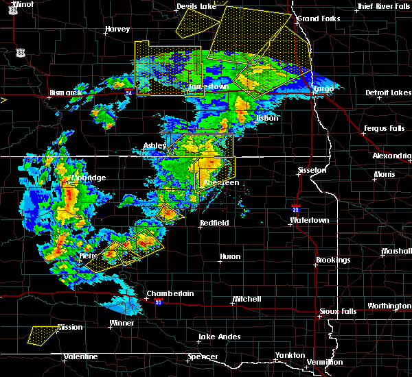 Radar Image for Severe Thunderstorms near Westport, SD at 6/7/2020 8:55 PM CDT