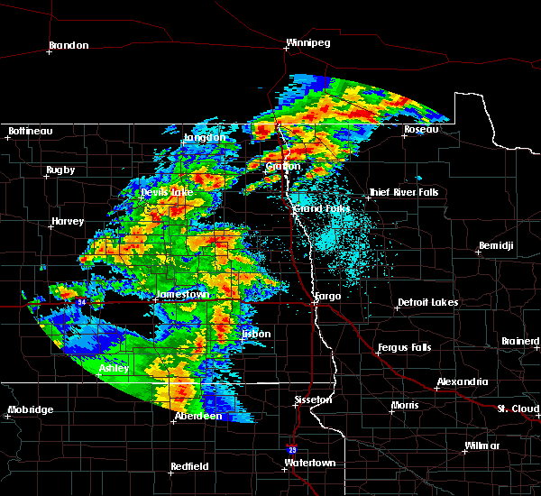 Radar Image for Severe Thunderstorms near Glenfield, ND at 6/7/2020 8:56 PM CDT