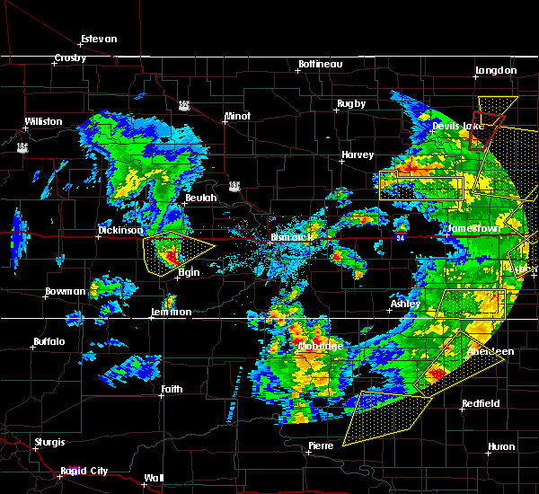 Radar Image for Severe Thunderstorms near Almont, ND at 6/7/2020 8:03 PM MDT