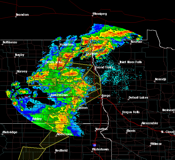 Radar Image for Severe Thunderstorms near McVille, ND at 6/7/2020 9:04 PM CDT