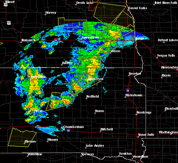 Radar Image for Severe Thunderstorms near Westport, SD at 6/7/2020 9:09 PM CDT