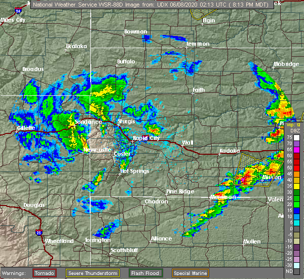 Radar Image for Severe Thunderstorms near Mission, SD at 6/7/2020 9:14 PM CDT