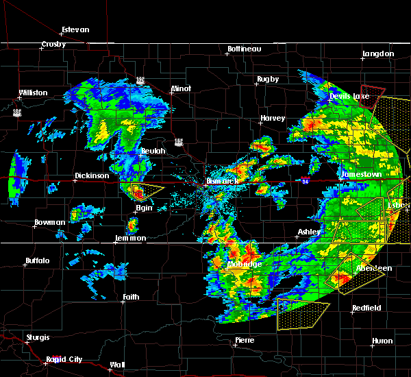 Radar Image for Severe Thunderstorms near Almont, ND at 6/7/2020 9:18 PM CDT