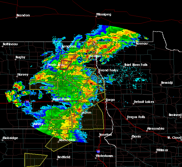 Radar Image for Severe Thunderstorms near Emerado, ND at 6/7/2020 9:20 PM CDT