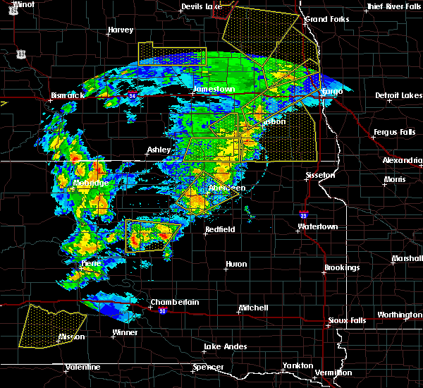 Radar Image for Severe Thunderstorms near Westport, SD at 6/7/2020 9:20 PM CDT