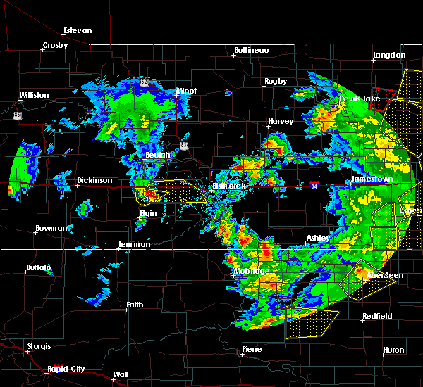 Radar Image for Severe Thunderstorms near Almont, ND at 6/7/2020 9:27 PM CDT