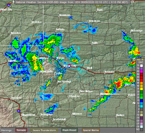 Radar Image for Severe Thunderstorms near Soldier Creek, SD at 6/7/2020 9:30 PM CDT