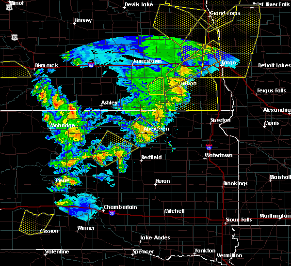 Radar Image for Severe Thunderstorms near Westport, SD at 6/7/2020 9:32 PM CDT