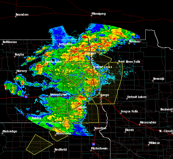 Radar Image for Severe Thunderstorms near Emerado, ND at 6/7/2020 9:37 PM CDT