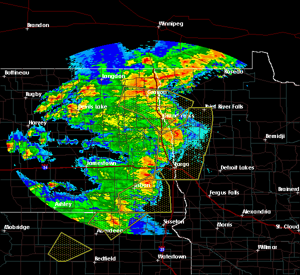 Radar Image for Severe Thunderstorms near Kent, MN at 6/7/2020 9:51 PM CDT