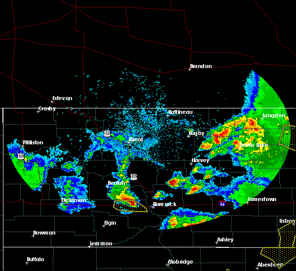Radar Image for Severe Thunderstorms near Denhoff, ND at 6/7/2020 10:00 PM CDT