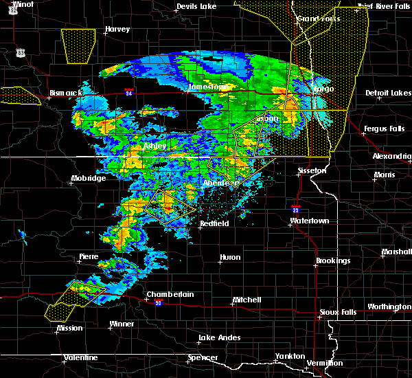 Radar Image for Severe Thunderstorms near Westport, SD at 6/7/2020 10:01 PM CDT