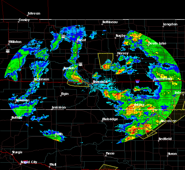 Radar Image for Severe Thunderstorms near Harmon, ND at 6/7/2020 10:04 PM CDT