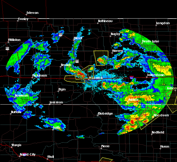 Radar Image for Severe Thunderstorms near Harmon, ND at 6/7/2020 10:15 PM CDT