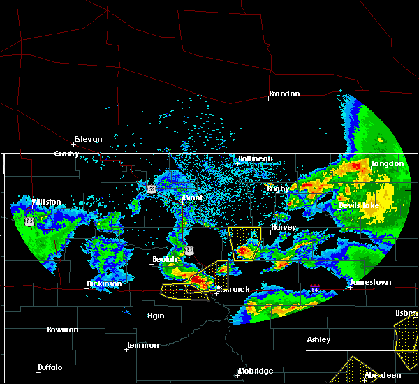 Radar Image for Severe Thunderstorms near Denhoff, ND at 6/7/2020 10:16 PM CDT