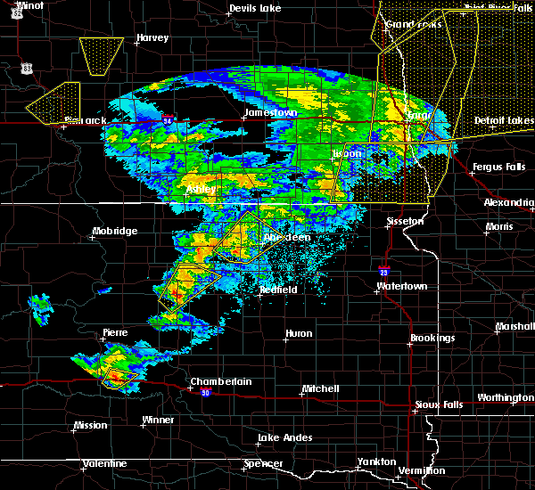 Radar Image for Severe Thunderstorms near Westport, SD at 6/7/2020 10:22 PM CDT