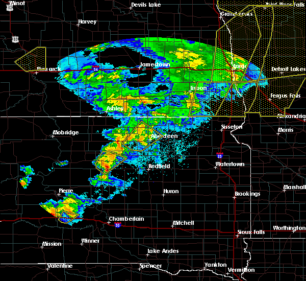 Radar Image for Severe Thunderstorms near Vivian, SD at 6/7/2020 10:30 PM CDT