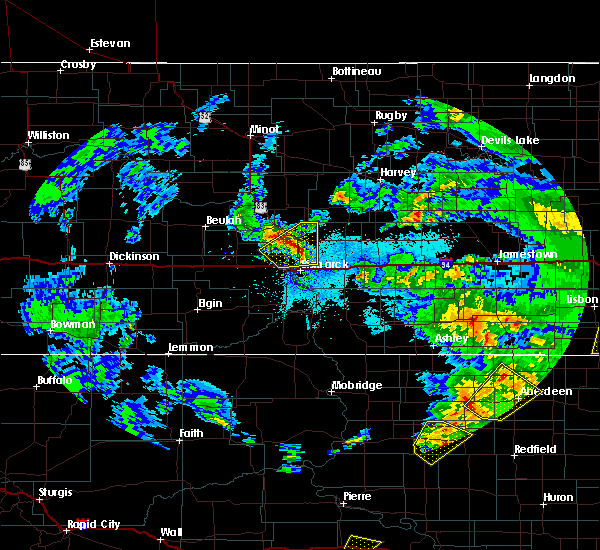 Radar Image for Severe Thunderstorms near Wilton, ND at 6/7/2020 10:32 PM CDT