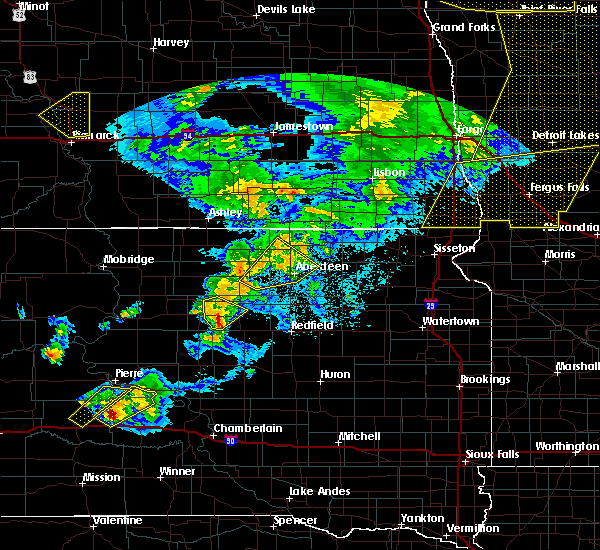 Radar Image for Severe Thunderstorms near Westport, SD at 6/7/2020 10:38 PM CDT