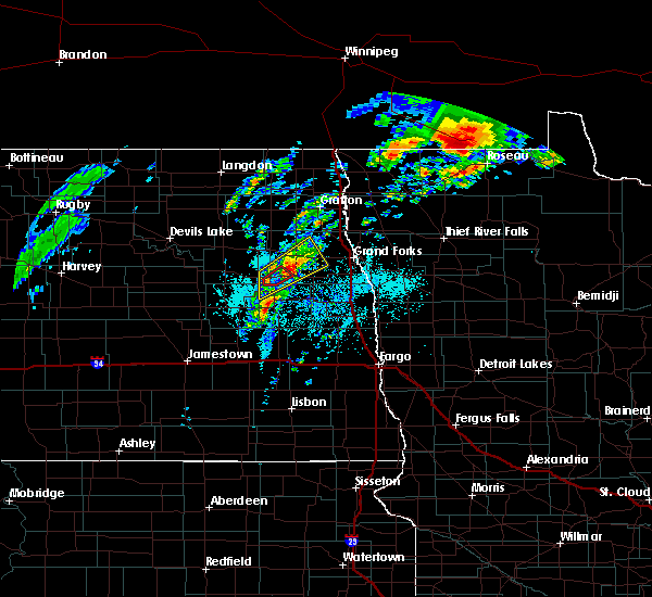 Radar Image for Severe Thunderstorms near Larimore, ND at 6/8/2020 4:55 PM CDT