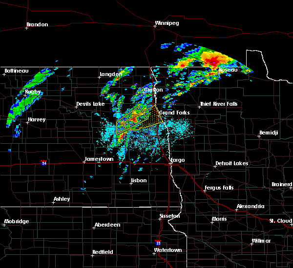 Radar Image for Severe Thunderstorms near Emerado, ND at 6/8/2020 5:05 PM CDT