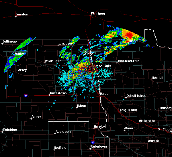 Radar Image for Severe Thunderstorms near Emerado, ND at 6/8/2020 5:15 PM CDT