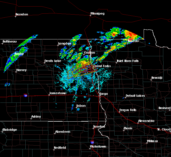 Radar Image for Severe Thunderstorms near Emerado, ND at 6/8/2020 5:31 PM CDT