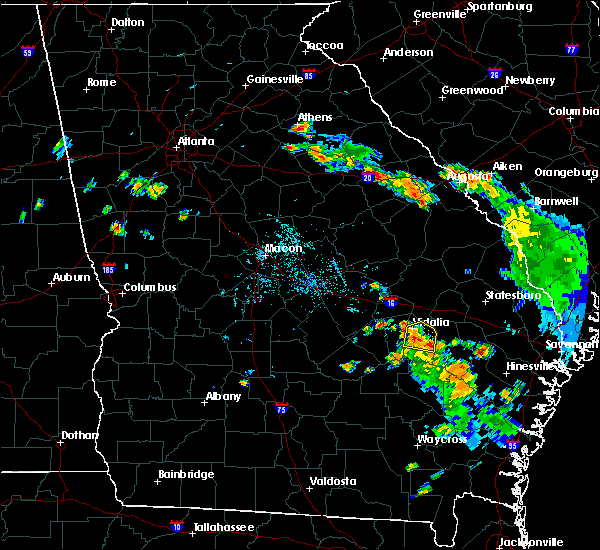 Radar Image for Severe Thunderstorms near Alston, GA at 6/8/2020 7:20 PM EDT